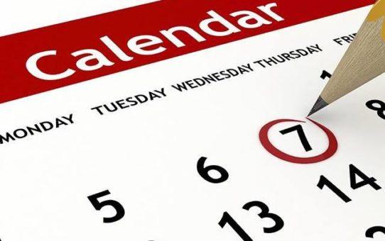 Calendario Corsi Maggio